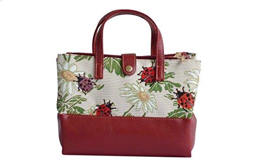 Borsa per cosmetici sacchetto della lavata alla moda in tessuto stile arazzo Coccinelle