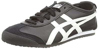ASICS Australia Mexico 66 Sneaker, Black/White, 5 US