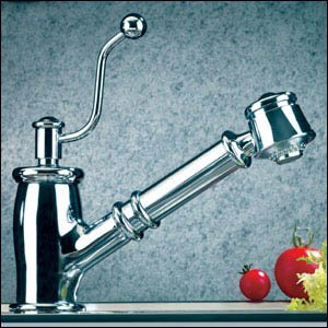 Handle One Seashore - Mico One Handle Pull-Out Spray Kitchen Faucet 7711-SN