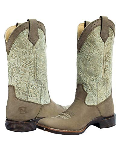 - Noble Outfitters Women's All Around Square Toe Floral, Bark - 7.5 Regular
