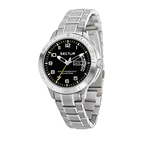 SECTOR Men's '270' Quartz Stainless Steel Sport Watch, Color Silver-Toned (Model: R3253578006)