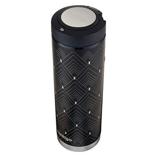 Art Deco Bottle - Quick-Twist Evoke SS 24oz Water Bottle - Black