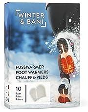 Winter & Bani Warmtepads 10 x 2 stuks – 8 uur warme voeten – extra dunne voetenwarmers pads – natuurlijk puur – direct klaar voor gebruik – zelfklevend