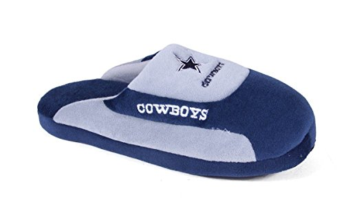 - DAL07-4 - Dallas Cowboys - XL - Happy Feet & Comfy Feet NFL Low Pro Slippers