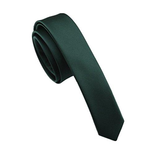 - Elviros Mens Solid Color Eco-friendly Fashion Skinny Tie 1.6'' (4cm) Emerald