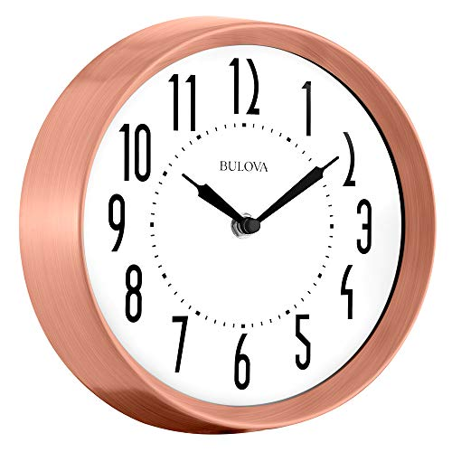 Bulova C4828 Cleaver Wall Clock, Copper Finish