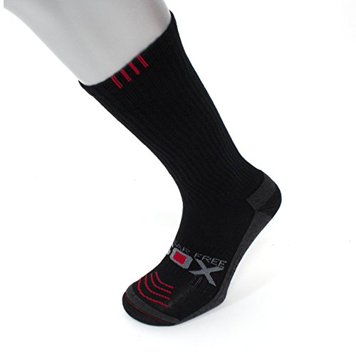 - Compression Socks | Big & Tall Mens Black (1 pair) | 8-15 mmHg | Size 13-16
