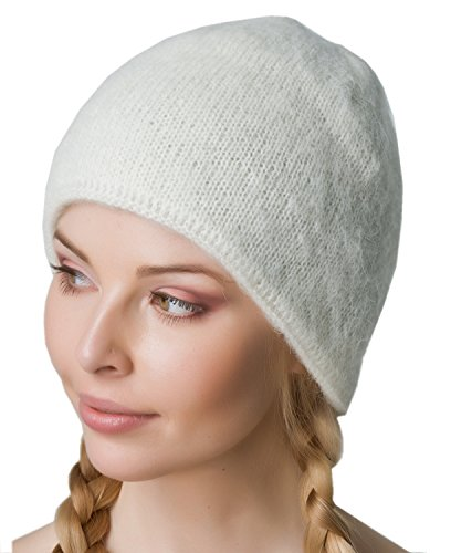 Winter Hat For Women and Men White Authentic Icelandic Wool 2 Ply Knitted Extra Warm by Freyja (Icelandic Wool Hats)