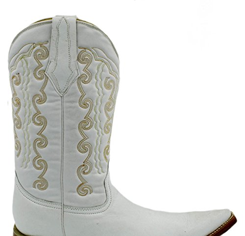 Stivali Da Cowboy In Vera Pelle Da Cowboy Artigianali Stivali Di Lusso Bianchi