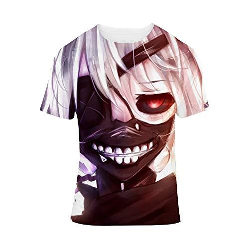 ICOSSABER T-Shirt Animation Tokyo Ghoul Kaneki Ken V,Classic Animation,Adult Unisex Crew XXL ()