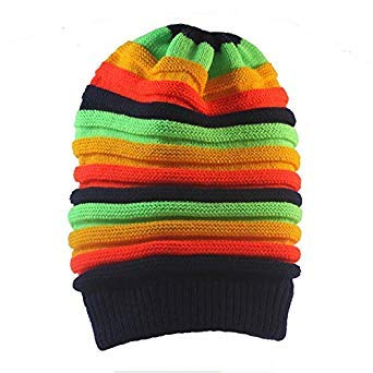 2d21bf4debe Winter Hip Hop Bob Jamaican Cap Rasta Reggae Hat Multi-Colour Striped  Beanie Hats for Men Women New Style Male Caps Gorros touca  Amazon.in   Beauty