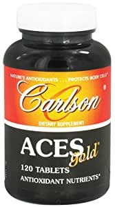 Carlson Labs ACES Gold Multiple Antioxidants, 120 Tablets