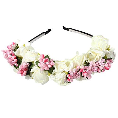 GreatFun Korean Style Hair Band Bridal Wreath Holder Hoop Bride Wedding Ornaments Hair Decoration (B) by GreatFun