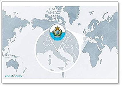 Amazon.com: World Map Centered on San Marino Clic Fridge ... on tuvalu on world map, palau on world map, japan on world map, uzbekistan on world map, malta on world map, estonia on world map, andorra on world map, slovenia on world map, djibouti on world map, luxembourg on world map, serbia on world map, liechtenstein on world map, monaco on world map, brunei on world map, liberia on world map, singapore on world map, vatican city on world map, montenegro on world map, kosovo on world map, liechtenstien on world map,