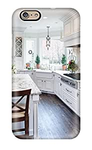 Cute Tpu Rhonda Malchow Traditional White Kitchen With Eat-in Island Case Cover For Iphone 6