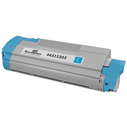Speedy Inks - Okidata Compatible 44315303 Cyan Laser Toner Cartridge for use in Oki C610cdn, Oki C610dn, Oki C610dtn, & Oki C610n