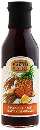 Earth & Vine Provisions Pineapple Sake Teriyaki Marinade, 12 Ounce