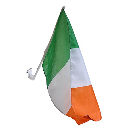 St. Patrick's Day Tri Colour Ireland Flag For Car (Tri Window)
