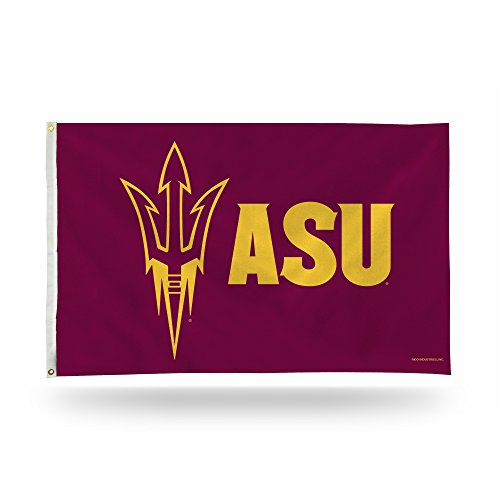 - Rico Industries NCAA Arizona State Sun Devils 3-Foot by 5-Foot Single Sided Banner Flag with Grommets