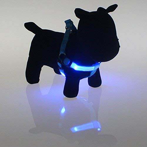 Cat Furniture for Kittens The Dog Collar Pet Harness Light Light Traction Rope Leash,M,bluee
