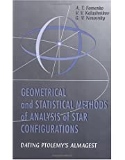 Geometrical and Statistical Methods of Analysis Star Configurations Dating Ptolemys Almagest