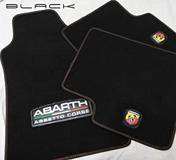 Abarth Fiat 500 Abarth Assetto Corse Floor Mat Set Amazon Co Uk