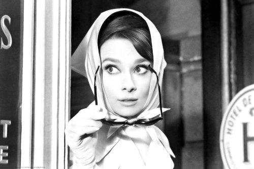 Audrey Hepburn Movie (Scarf) Poster Print 36 x - Vintage Sunglasses Rare