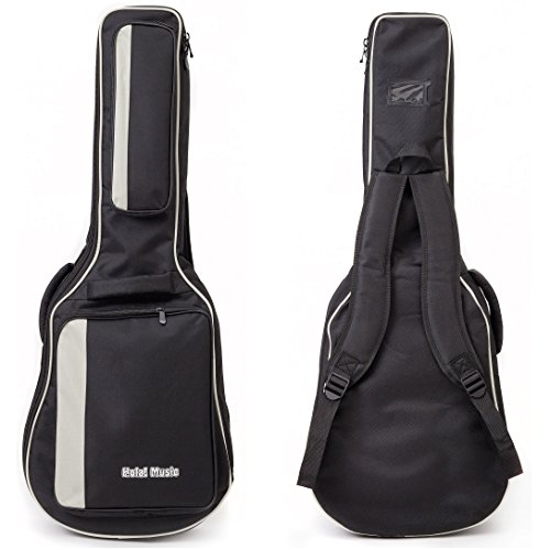 Acoustic and Classical Guitars Gig Bag 3/4 Size (36 inch) by Hola! Music, Deluxe Series with 15mm Padding, Black by Hola! Music (Image #6)