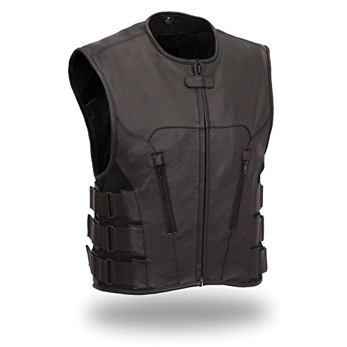 (First Manufacturing Men's Updated SWAT Team Style Vest (Black, X-Large))