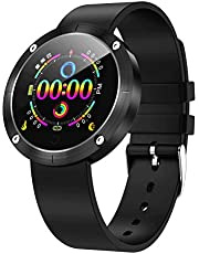OUKITEL W2 Smart Watch, Fitness Smartwatch HD Touch Screen Bluetooth Smart Bracelet with Pedometer Heart Rate Sleep Monitor and Smart Notifications Compatible with Android and iOS (Pink)