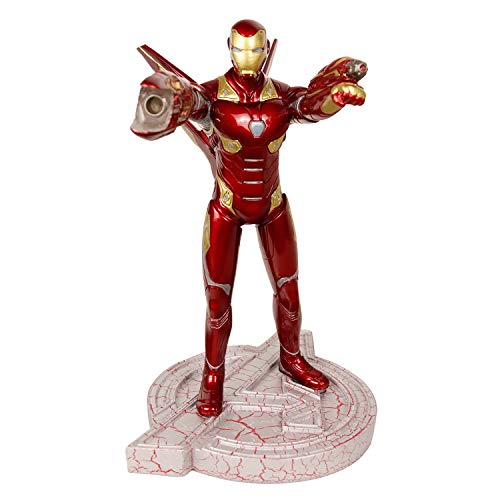 Deluxe The Avengers Iron Man Action Figure Light Up 12.1'' Superhero Garage Kits with Led for Collection Toy -