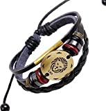 New brand Leather Bracelet for Men Women Boy |Punk