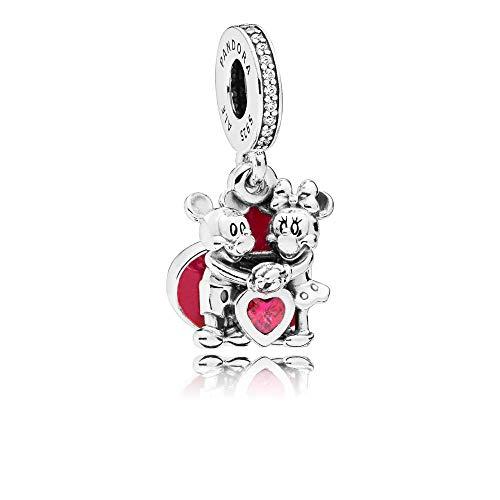 [판도라] PANDORA Disney (디즈니) Minnie & Mickey With Love 매달려 매력 레드 (스털링 실버, 에나멜, 큐빅) 정식 수입품 797769CZR