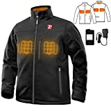 Heated Jacket for Men with 5 Heated Zone and 7.4V 10050mAh Battery Passed UL Certification Comfortable Stylish Warm