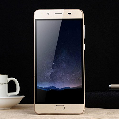 LtrottedJ 5.0''Ultrathin Android 5.1Quad-Core 512MB+512MB GSM WiFi Dual Smartphone (Gold) - 512 Sanitizer
