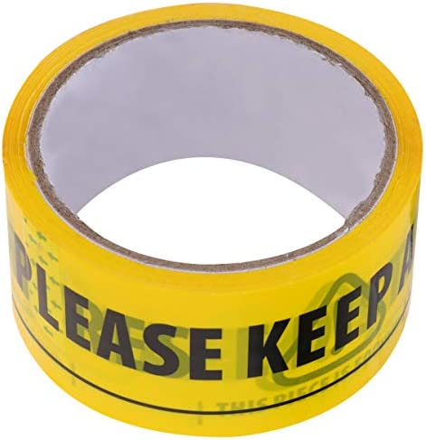 HEALLILY Voorzichtigheidstape Geel en Zwart Gestreepte Barricade Tape Houdt Een Veilige Afstand Van 2 Meter Op de Vloer Markering Voorzichtigheid Lint Bouw Tape