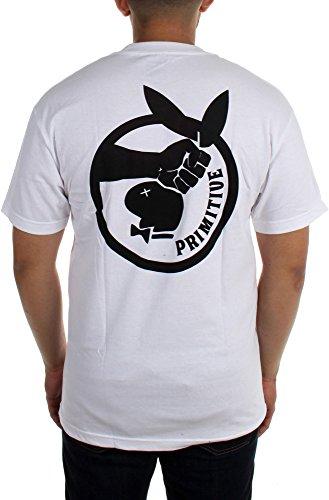 Primitive - Mens Game Killer T-Shirt, Size: Medium, Color: White