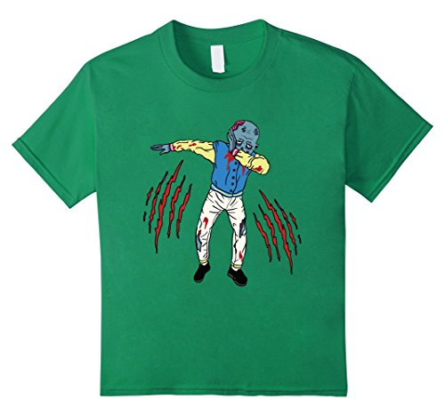 [Kids Dabbing Zombie Shirt Funny Halloween Zombie Costume T-Shirt 4 Kelly Green] (Last Minute Partner Halloween Costumes)