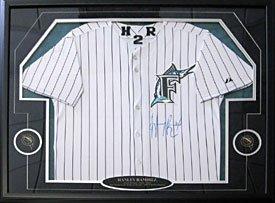 Hanley Ramirez Autographed / Signed Framed Florida Marlins Jersey Ramirez Autographed Jersey