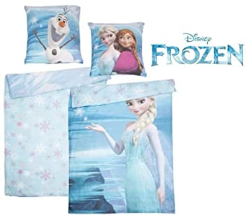 Disney Frozen Duvet Cover Wende Bettwäsche Olaf Elsa 135 X 200 Cm