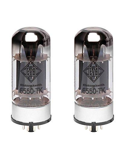 TELEFUNKEN Black Diamond 6550-TK Vacuum Tube Matched Pair