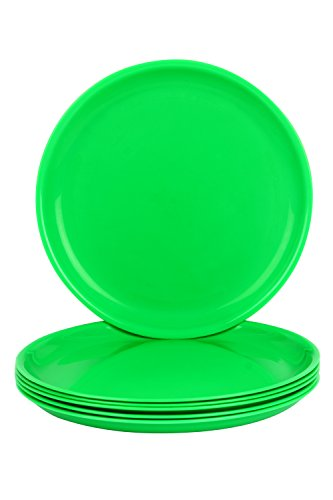 Day2Day Forever Green Microwave Safe Dinner Plates Set Pack of 6  27x27x2 cm