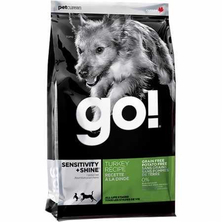 25 lb Petcurean 152049 Go Sensitivity and Shine Grain Free Turkey Dry for Dog, 25-Pound