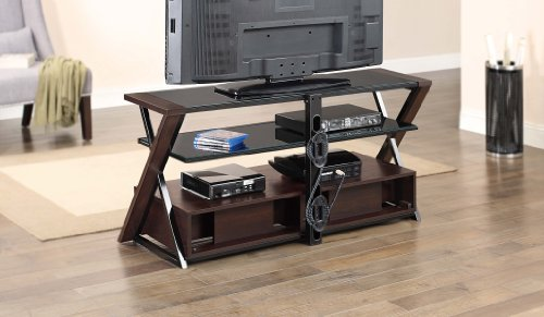 Whalen Furniture Xldec54 Nv 3 In 1 Flat Panel Tv Stand And