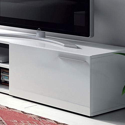 Habitdesign 006670BO - Modulo de Comedor, Mueble TV Kikua, modulo Acabado en Blanco Brillo, Medidas: 35 x 130 x 42 cm: Amazon.es: Hogar