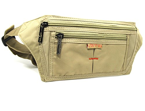 Waist Fanny Pack Belt Bag Camping Hiking Phone Pouch Khaki - 9