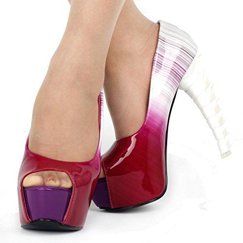 Show Story - plataforma mujer Rojo - granate (Wine red)