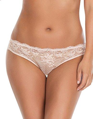 PARFAIT Women's Brazilian Thongs Panties Underwear 2XL Cameo Rose, Sandrine P5354 -