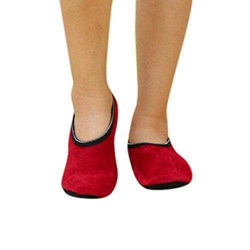 Wein Yoga Gaddrt Socken Socken Slipper Warme Rutschfeste Socken Griffsocken Fleece Yoga Frauen qSwHSIP