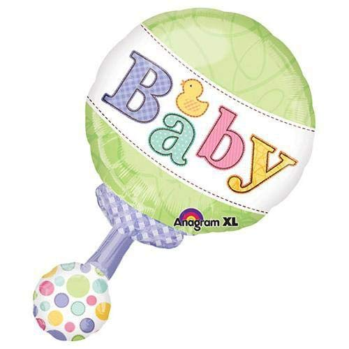 Green & Polka Dot Pastel Baby Rattle 19